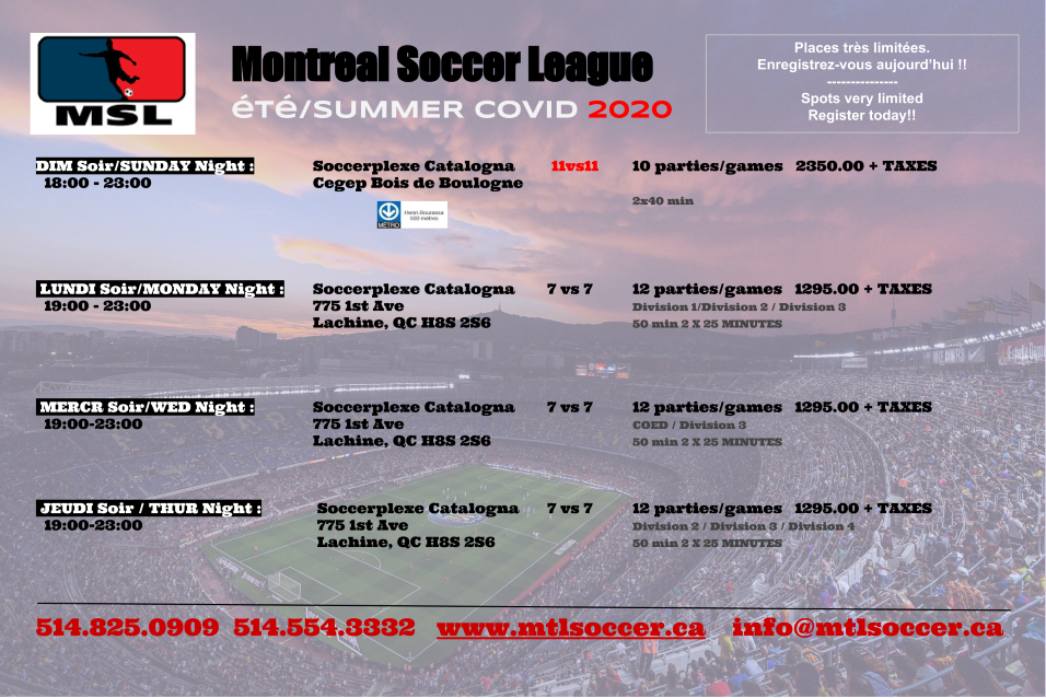 Summer registration 2020 covid
